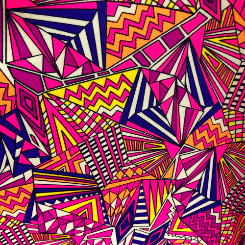 Pink Geometry Spandex, geometric fabric, discount fabric