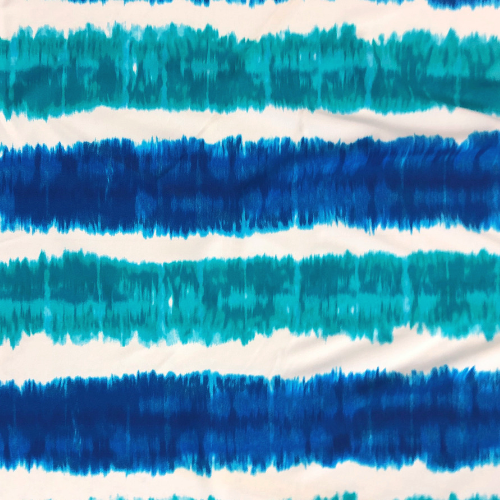 Blue Teal Stripe Spandex, stripe fabric, discount fabric