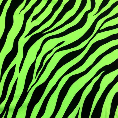 Green Zebra Spandex, zebra pritn fabric, discount fabric