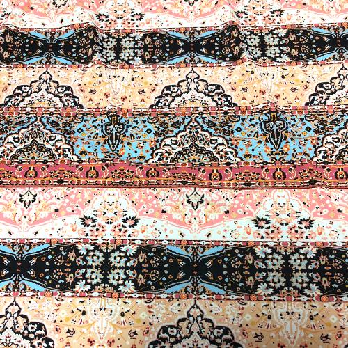 Tucson Folk Spandex, folk print, print fabric, wholesale print fabric, discount fabric