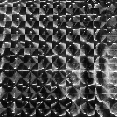 3D Checkers Foil Black