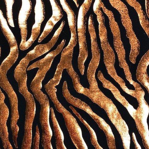 Copper Tiger Stripe Tricot Foil, copper tiger stripe tricot foil