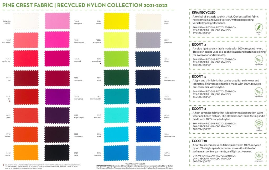 Recycled Nylon Collection