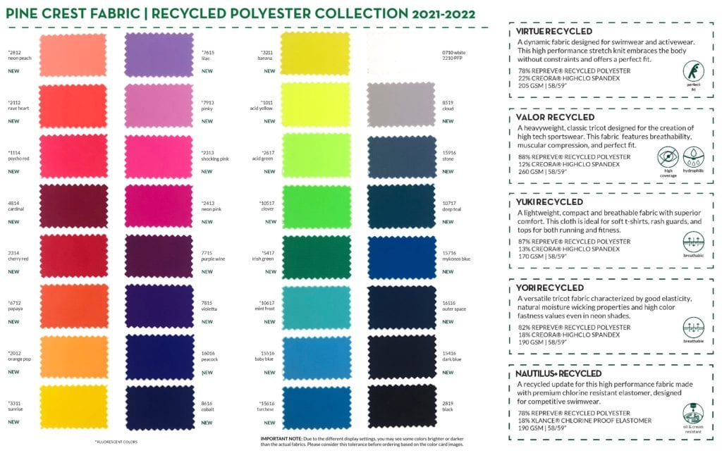 Recycled Polyester Collection